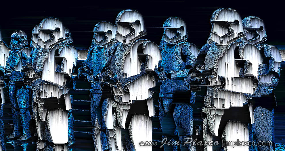 Storm Troopers Noise Glitch Art