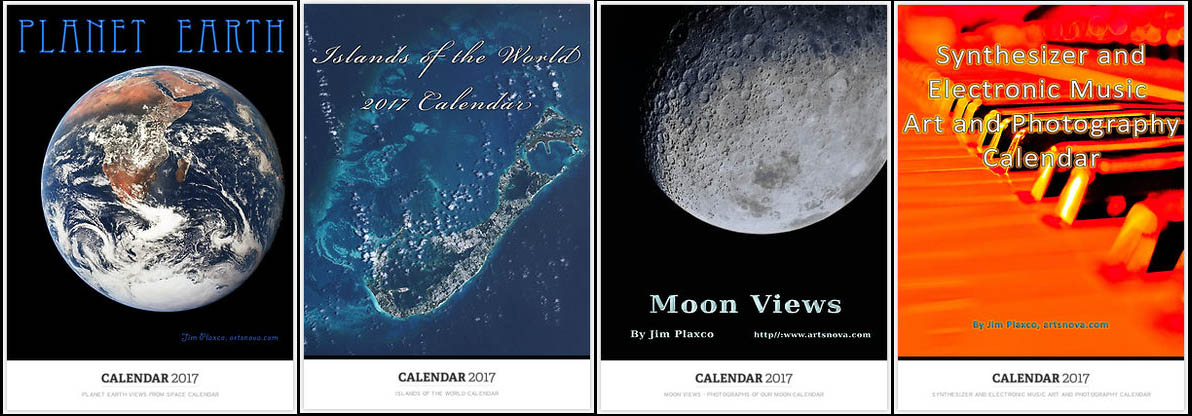 2017 Calendars - Earth, Islands, Moon and Music Calendars