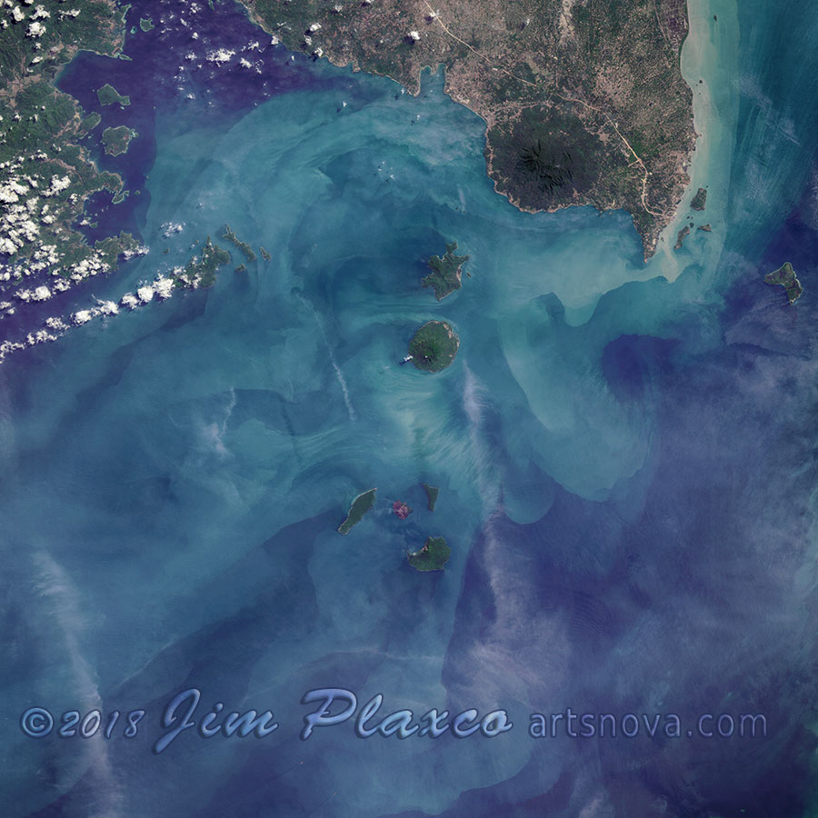 Landsat image of Krakatau Volcano