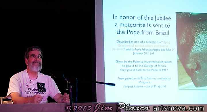Musecon Guest of Honor Brother Guy Consolmagno talking about Meteorites