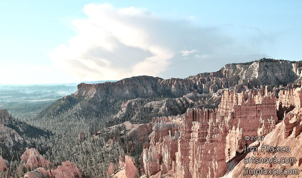 Bryce Canyon National Park Antique Landscape Digital Art