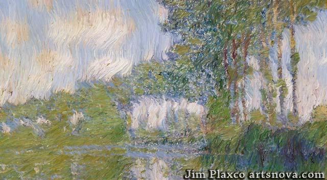 Claude Monet Poplars At The Epte