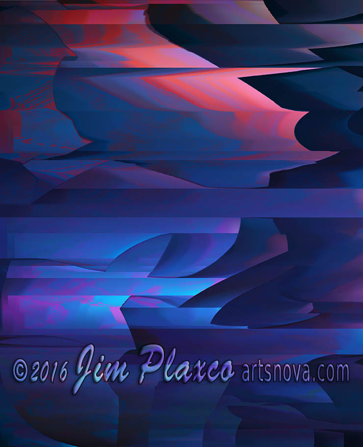 Coastal Cliffs At Sunset Landscape Abstract Art