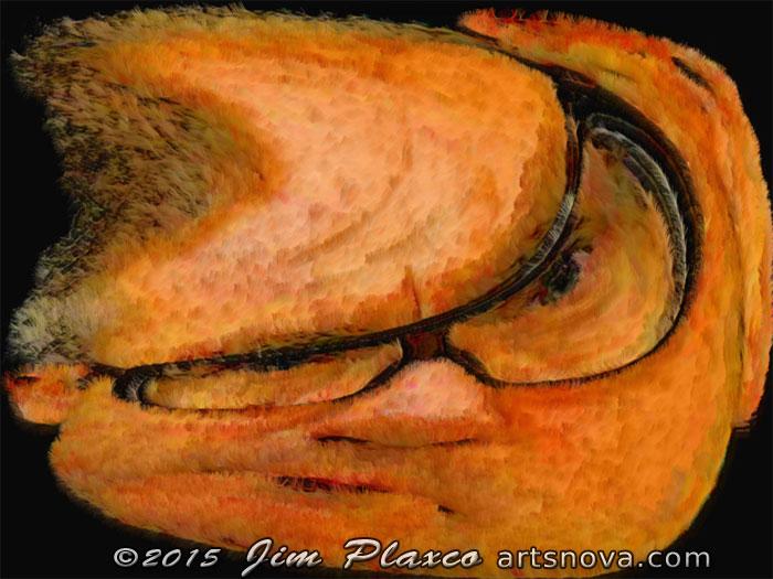 Warped Portrait of the Artist Damien Hirst