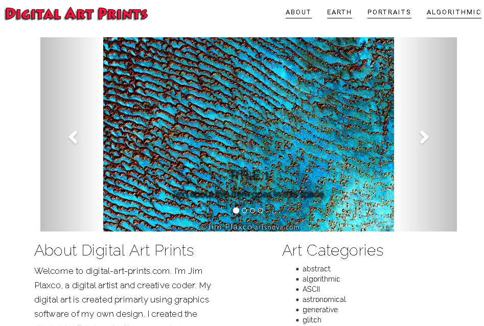 Digital Art Prints website screenshot