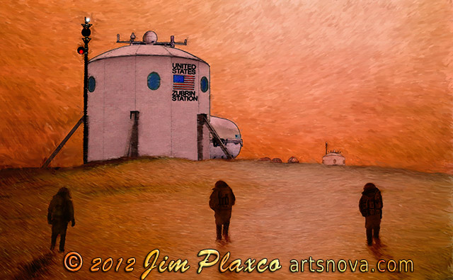 Dustfall on Mars space art