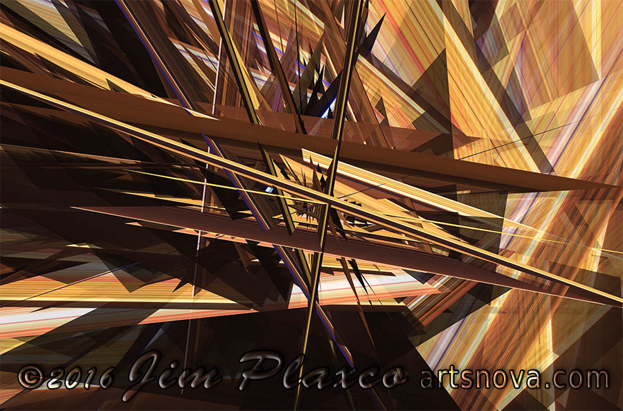 Euclidean Chaos Abstract Algorithmic Art