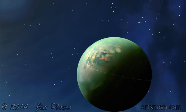 First Human Mission to Titan Digital Painting