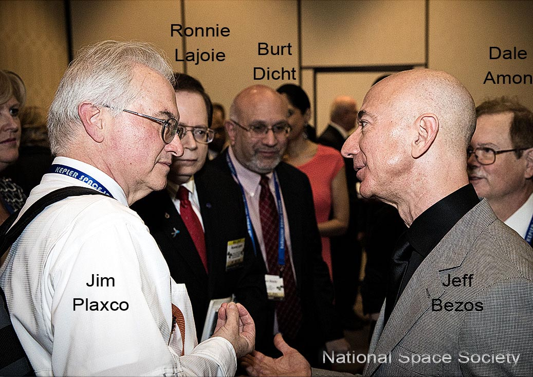 Jim Plaxco and Jeff Bezos at the International Space Development Conference VIP Reception