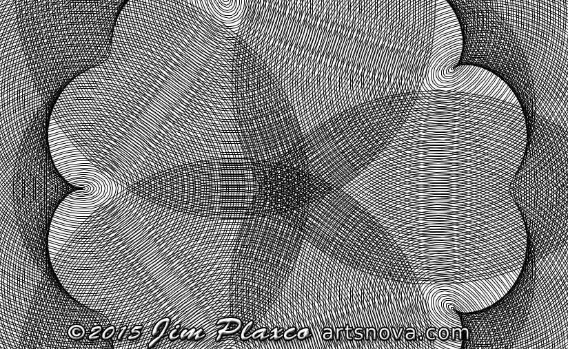 Modified Spirograph program output from Musecon class