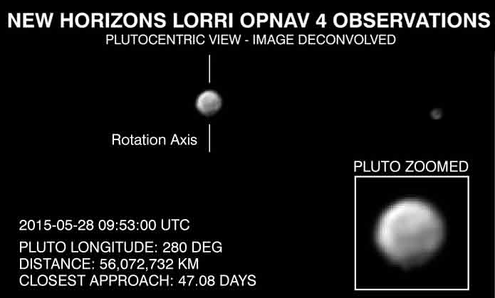 New Horizons Lorri Image of Pluto Taken June 11, 2015
