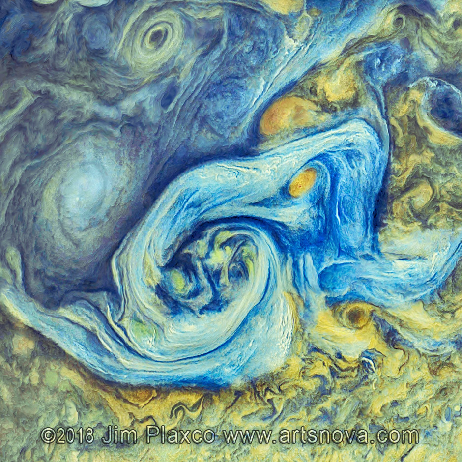 Northern Storm on Jupiter space art