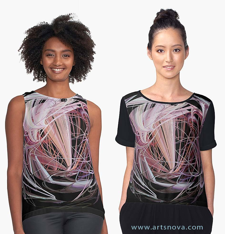 Orbital Decay Art on Womens Tee Shirts