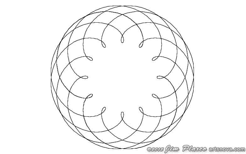 Original spirograph program output