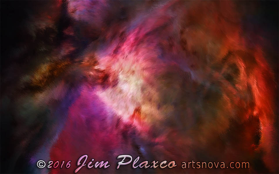 Orion Nebula Sans Stars Astronomical Art
