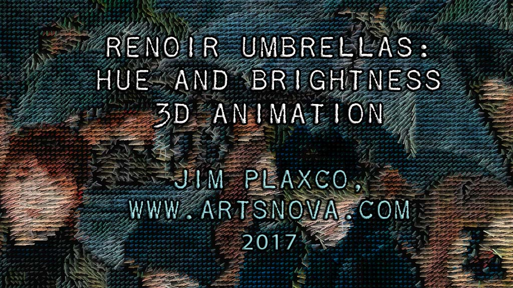 Pierre-Auguste Renoir The Umbrellas Algorithmic Interpretation Video