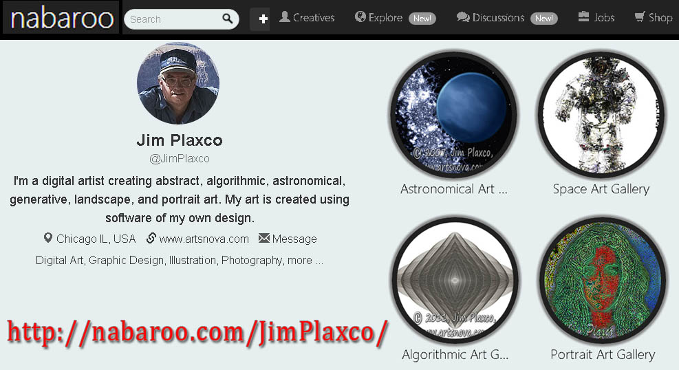 Jim Plaxco's Nabaroo Account