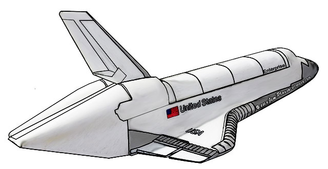 Space Shuttle Enterprise art