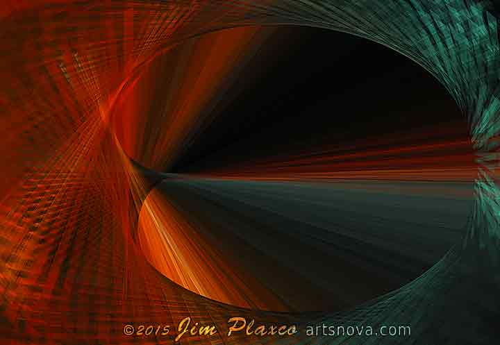 Tunnel Vision Algorithmic Abstract Art