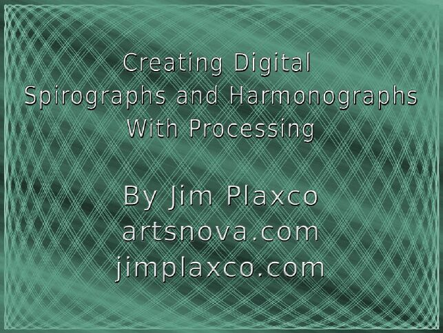 Creating Digital Spirographs and Harmonographs With Processing