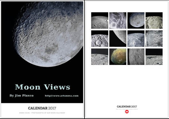 Moon Views - Photographs of Our Moon Calendar