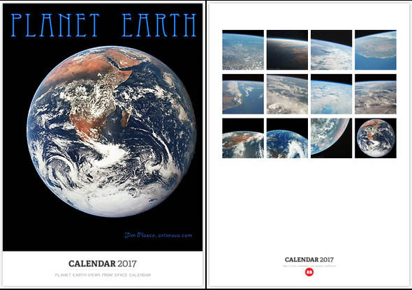 Planet Earth Views from Space Calendar