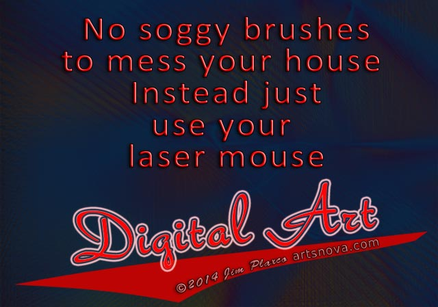 Soggy brushes digital art jingle inspired by Burma Shave