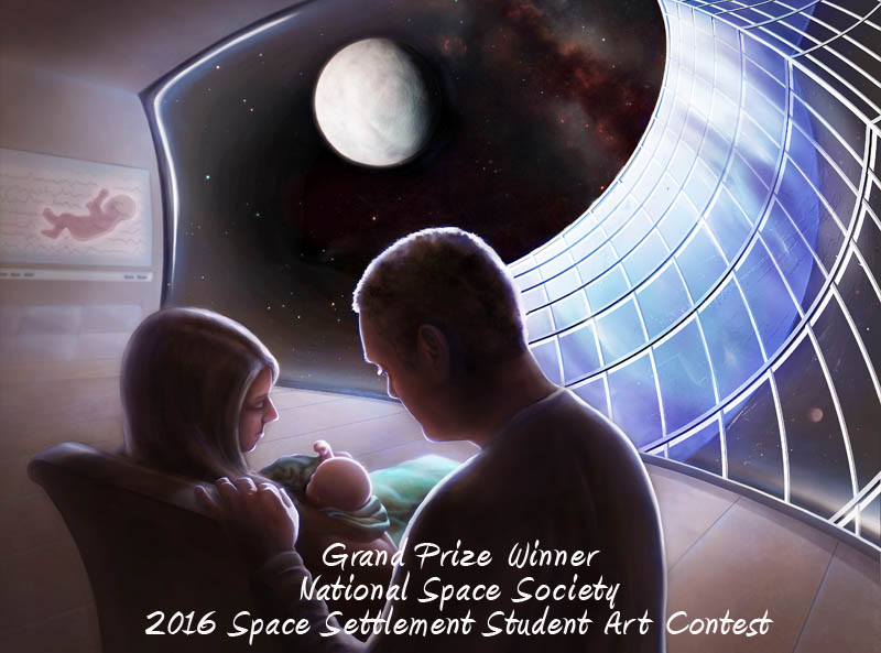 Space Settlement Student Art Contest Grand Prize Winner