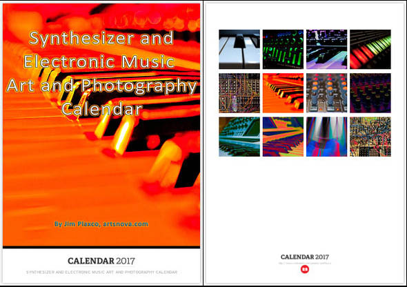 Synthesizer and Electronic Music Art and Photography Calendar