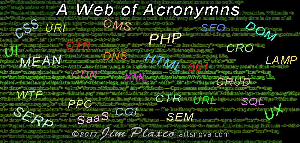 web consulting acronymns