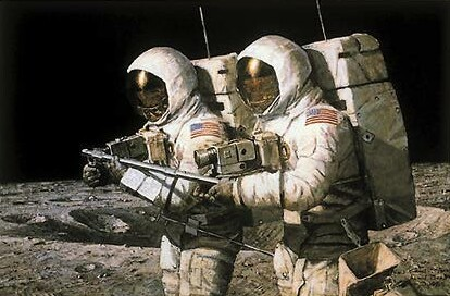 Alan Bean Painting Helping Hands