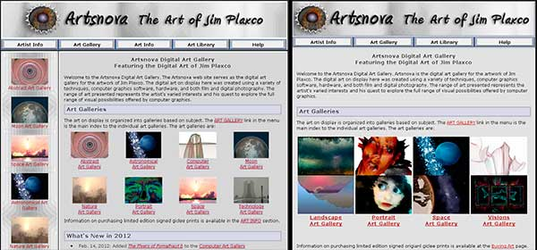 Web Site Redesign Before After
