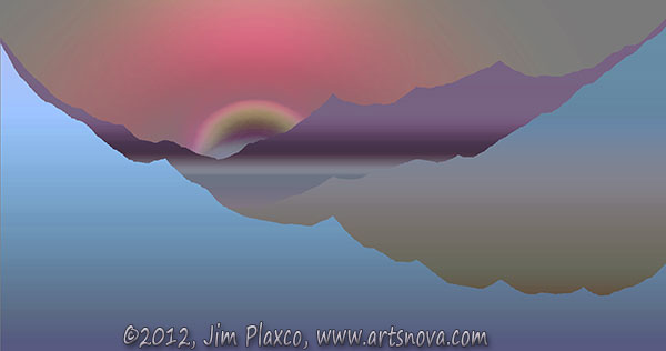 Beyond the Mountains Exoplanet Landscape Painting