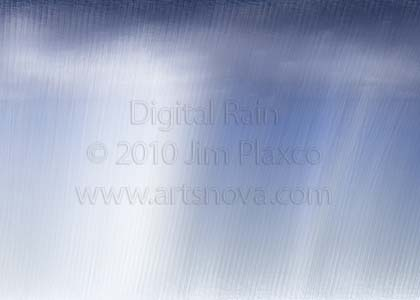 Digital Rain digital art painting