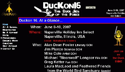 DucKon Science Fiction Convention