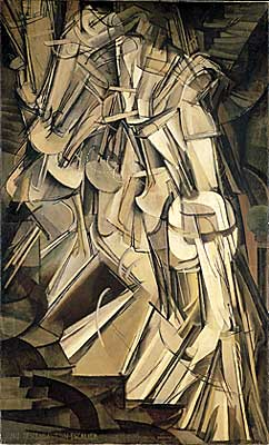 Marcel Duchamp Painting: Nude Descending a Staircase