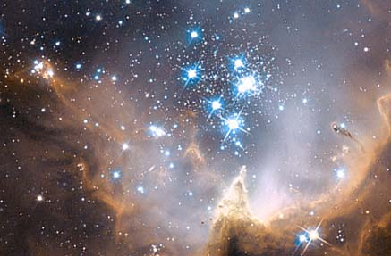 Image: Hubble Space Telescope image of N90 star forming region in the Small