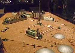 model Mars base
