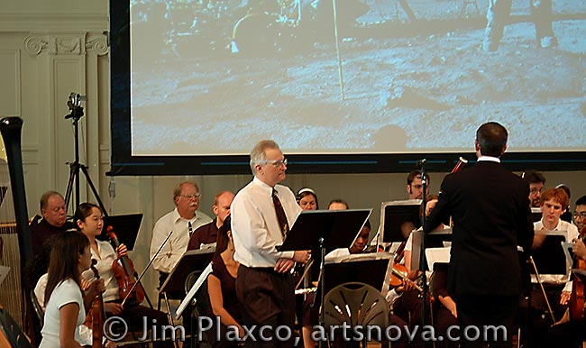 Jim Plaxco Narrating at the Music Institute of Chicago Blast Off Concert