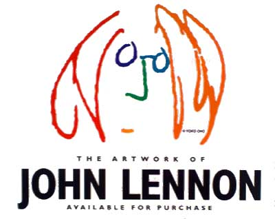 John Lennon Art Exhibit and Sale Poster