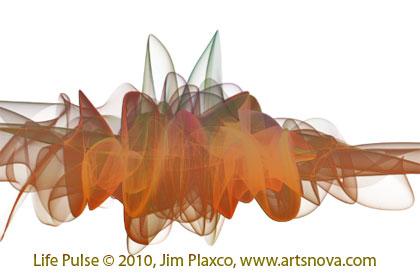 Life Pulse digital abstract art