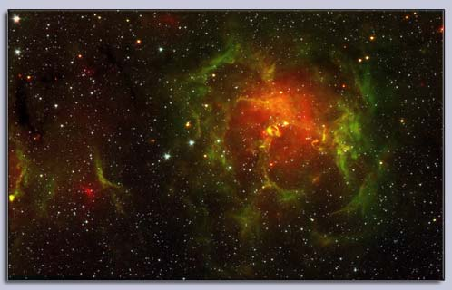 Trifid Nebula from Photoshop Tutorial