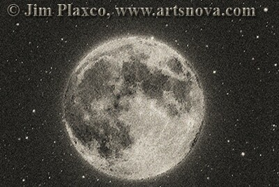 Quantum Moon Space Art Print