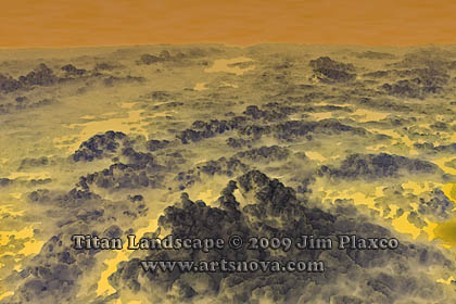 Titan Landscape Space Art