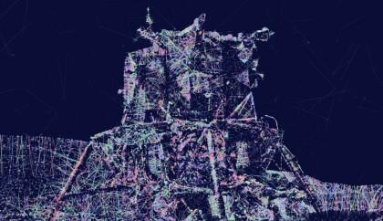 Apollo LEM from Astronaut Glory digital painting