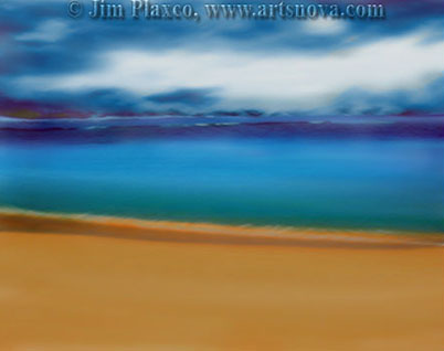Beach Sky Study digital painting