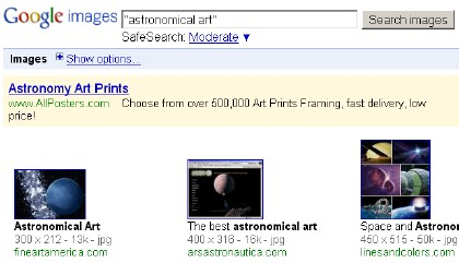 Google Results for Astronomical Art
