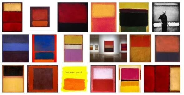Artist Mark Rothko and selected art works