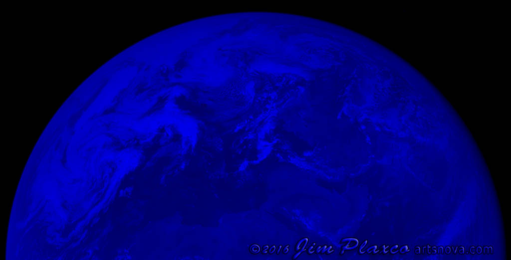 Planet Earth Apollo Image Blue Channel