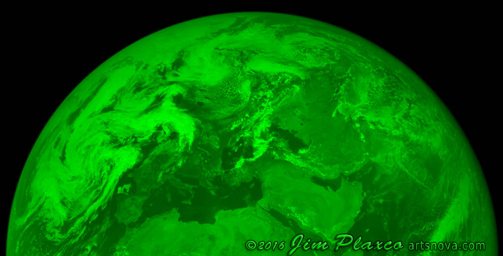 Planet Earth Apollo Image Green Channel